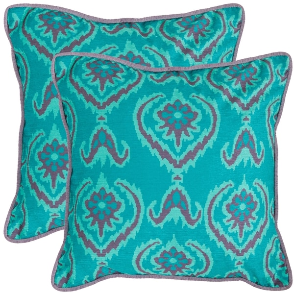 Safavieh Alpine 22-inch Aqua Blue Decorative Pillows (Set of 2)