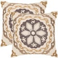 Thea 20-inch Taupe/ Gold Decorative Pillows (Set of 2)