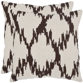Safavieh Syrie 18-inch Ivory Decorative Pillows (Set of 2)