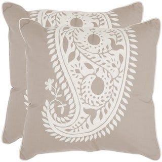 Sweet Paisley 20-inch Beige/ Ivory Decorative Pillows (Set of 2)