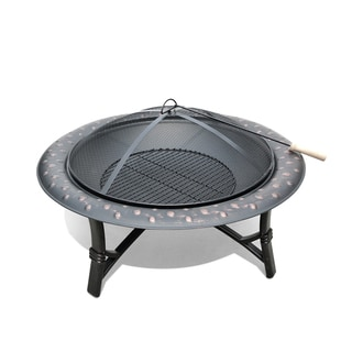 San Diego Rubbe Bronze Finish Outdoor Fire Pit