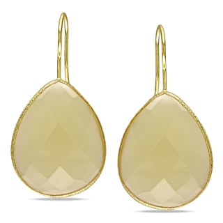 M by Miadora Yellow-plated Synthetic Gemstone Hook Earrings