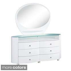 Emily/ Evelyn High Gloss 6-drawer Dresser