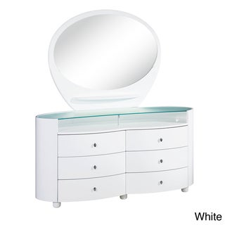 Emily/ Evelyn High Gloss 6-drawer Dresser
