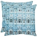 Verona 20-inch Turquoise Decorative Pillows (Set of 2)