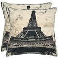 Paris 20-inch Antiqued Sandstone Decorative Pillows (Set of 2)