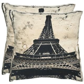 Paris 18-inch Antiqued Sandstone Decorative Pillows (Set of 2)