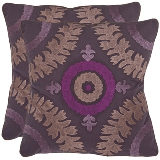Alahambra 18-inch Purple Decorative Pillows (Set of 2)