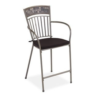 Glen Rock Marble Dining Stool with Cushion