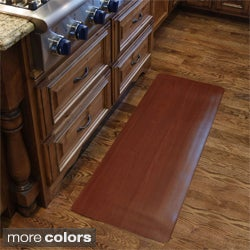 Comfort Style Wood Grain Cushion Mat (1'6 x 2'6)
