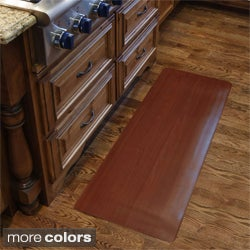 Comfort Style Wood Grain Cushion Mat (1'6 x 4')