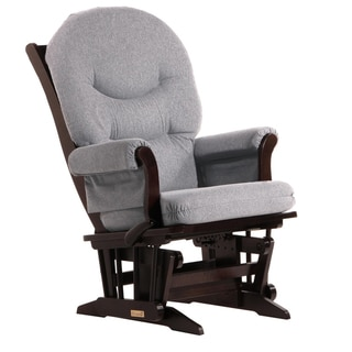 Dutailier Ultramotion Espresso/ Dark Grey Multi-position Sleigh Glider