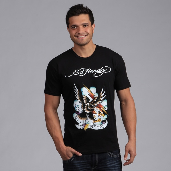Ed Hardy Men's Black Eagle Lightning T-shirt