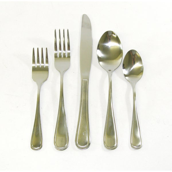 Fabulous threestar pink floral 24piece stainless steel - Splendide flatware patterns ...