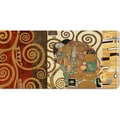 Klimt Patterns 'The Embrace Gold' Stretched Canvas Art