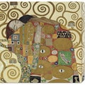Gustav Klimt 'The Embrace' Stretched Canvas Art