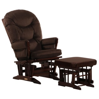 Dutailier Ultramotion Coffee/ Chocolate 2-post Multi-position Glider and Ottoman Set
