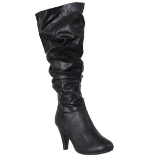 Riverberry Women's 'Valencia' Black High-heel Slouch Boots