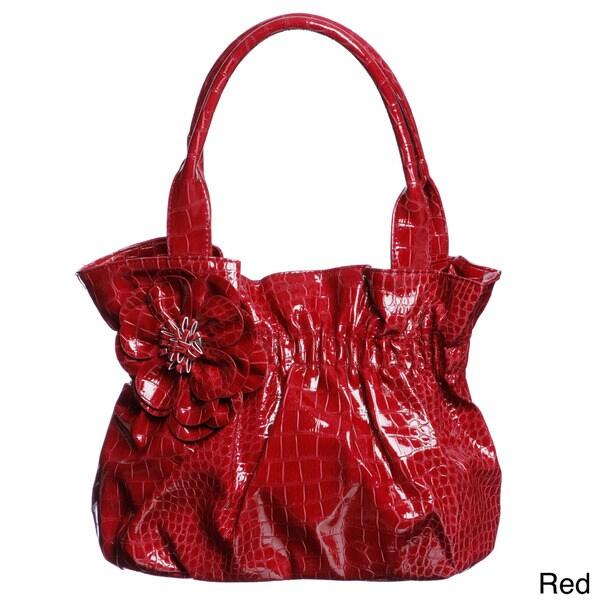 Valencia Embossed Croco Shopper Bag