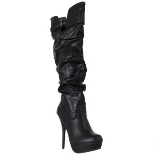 Riverberry Women's 'Colada' Black Over-the-knee Boots