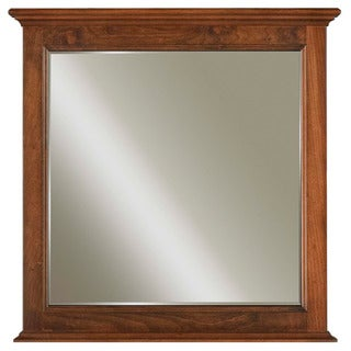 Water Creation Spain Collection Hardwood Bathroom Vanity Mirror