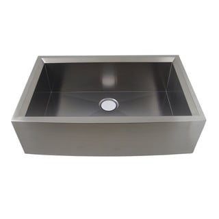 Water Creation Zero Radius Single Bowl Stainless Steel Kitchen Sink