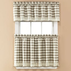 Norwalk Plaid Rod Pocket 3-piece Tier Set