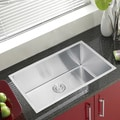 Water Creation SS-U-3018B 30 x 18-inch Single Bowl Stainless Steel Hand Made Undermount Kitchen Sink with Coved Corners