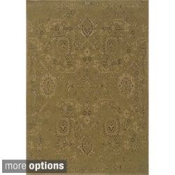 Indoor Green and Beige Area Rug