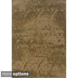 Indoor Beige and Brown Area Rug