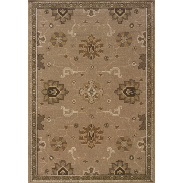 Indoor Tan and Brown Area Rug