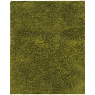 Indoor Green Shag Area Rug