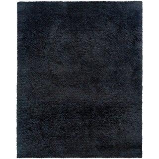Indoor Black Shag Area Rug