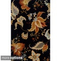 Hand-tufted Indoor Black and Gold Wool Area Rug