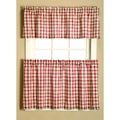 Austin Plaid Rod Pocket 3 Piece Tier Set