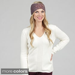 KC Signatures Women's Stone-embellished Ear Warmer Headband