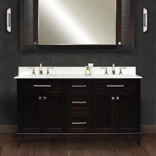 creation manhattan collection 60 inch double sink bathroom vanity set