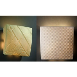 1-light Square Translucent Porcelain Wall Sconce