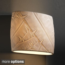 2-light Wide Oval Wall Sconce with Translucent Porcelain