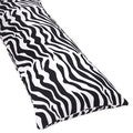 Sweet Jojo Designs Microsuede Zebra Animal Print Full-length Double Zippered Body Pillow Cover