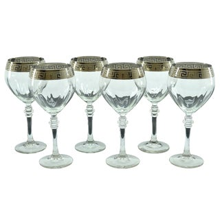 Threestar Silver Accented Italian Red Wine Glasses (Set of 6)