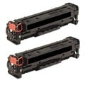HP Black Toner Cartridge (Pack of 2) (Remanufactured)
