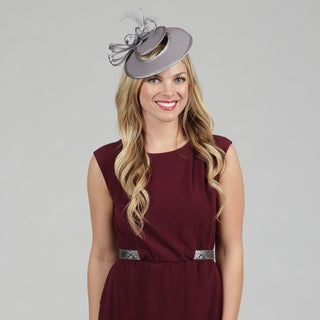 Swan Women's Silver Double-ring Shape Cocktail/ Fascinator