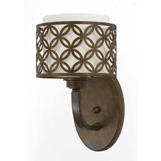 Orion 1 light wall sconce in Aged Bronze