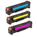 HP Color Toner Cartridges (Pack of 3) (Remanufactured)