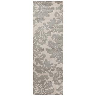 Hand-tufted Balikesir Bay Leaf Wool Rug (2'6 x 8')
