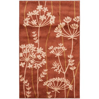 Hand-tufted Searobin Burnt Orange Rug