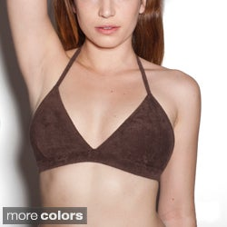 American Apparel Loop Terry Halter Bra