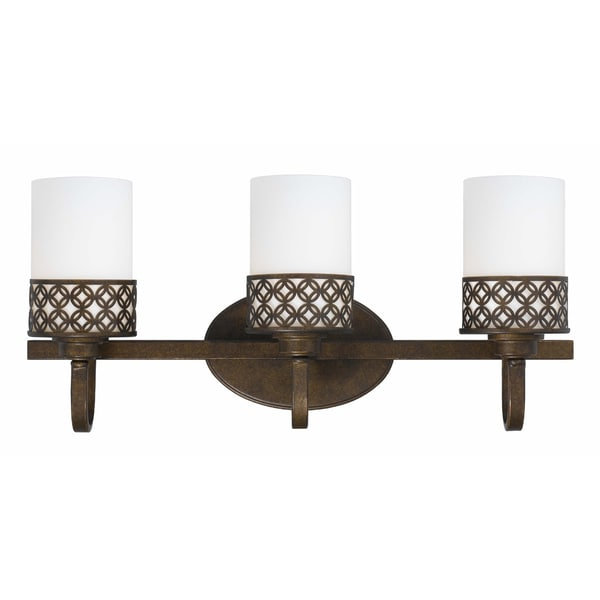 Orion 3 light bath/vanity in Aged Bronze