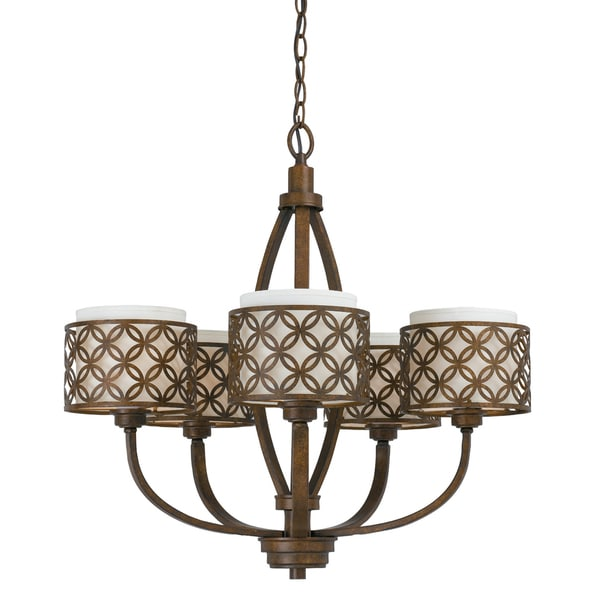 Orion 5 light Chandelier in Aged Bronze